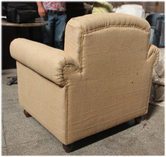 Jute BURLAP Fabric Vintage Replica CLUB CHAIR Van Gogh Canvas Furniture Kings Bay Exclusives