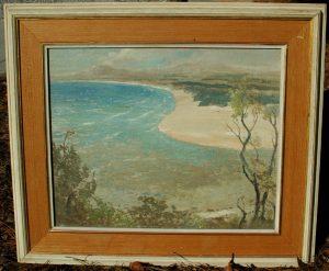 VERY RARE Framed L V Solomon Impressionist Oil Painting Original Art WOW