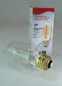 Thomas Edison LIGHT BULBS vintage styl Spiral long picture light Radio Tube