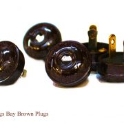 Acorn Bakelite BROWN Tiffany and Co Replica Lighting Parts Plugs Handel Hubbard (5pcs)