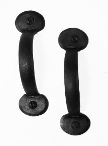 Colonial Wrought Iron BEAN PULL PR Set Hand Made Door Hardware for Restoration