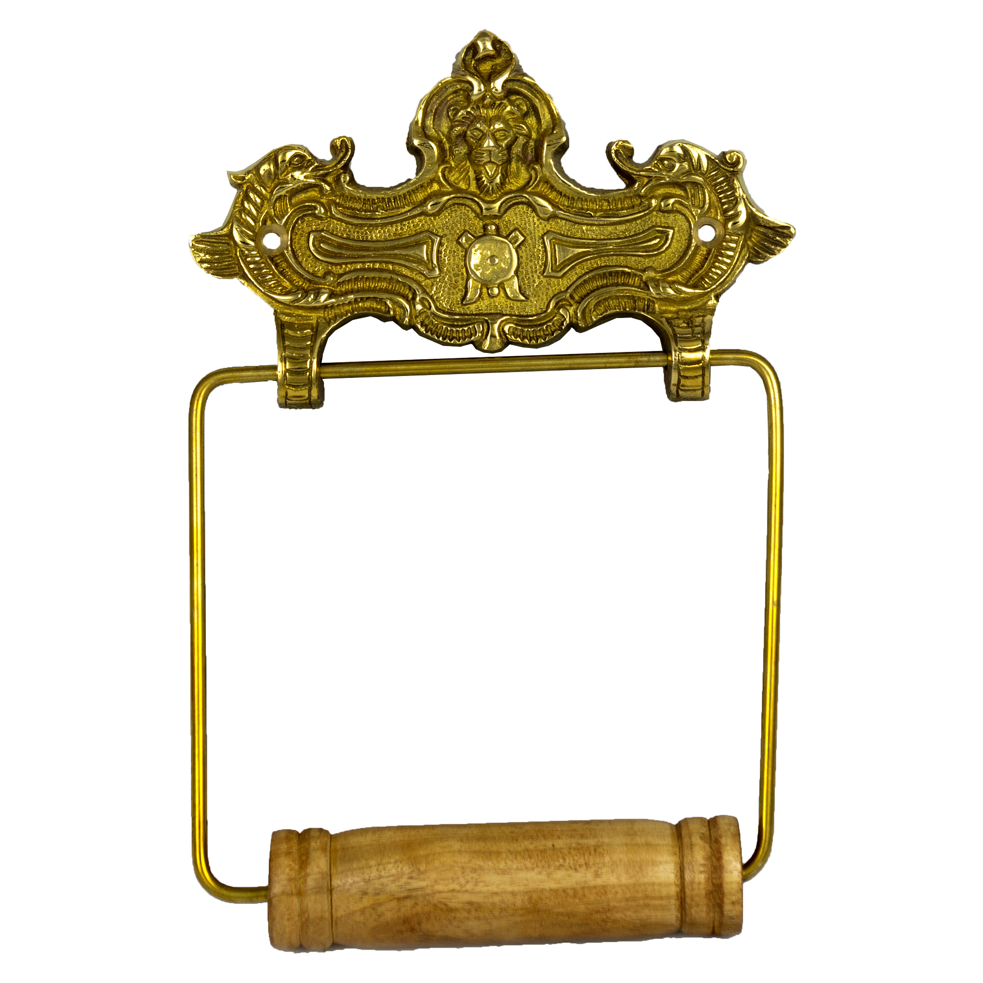 Wall Mount VINTAGE STYLE Toilet Paper Holder in Solid Brass French Decor
