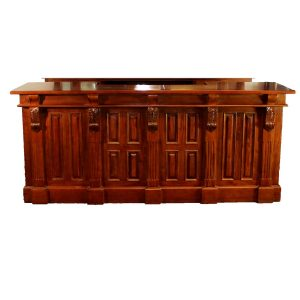 8' Mahogany Victorian Front Bar Furniture Antique Replica Sale Home Man Cave