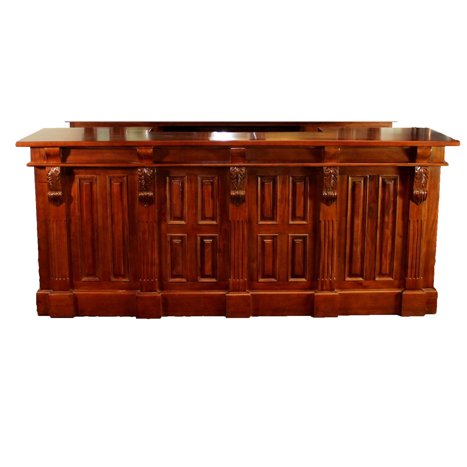 8 39 Mahogany Victorian Front Bar Furniture Antique Replica Sale Home Man Cave The Kings Bay