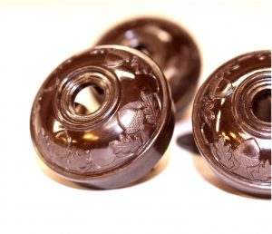 Acorn Bakelite BROWN Tiffany and Co Replica Lighting Parts Plugs Handel Hubbard (5pcs)