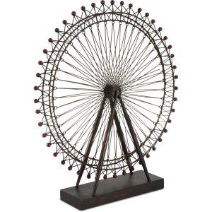 Metal Decorative Ferris Wheel Table Sculpture Art from Paris European Bronzed