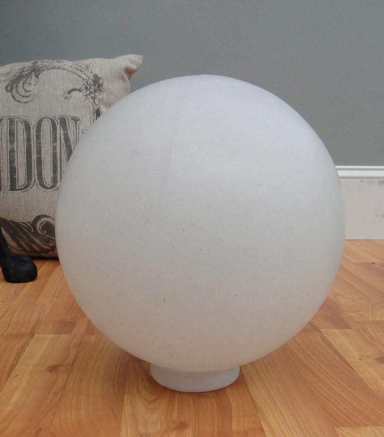 Big WHITE PLASTIC BALL Outdoor Shade Light Fixture Round