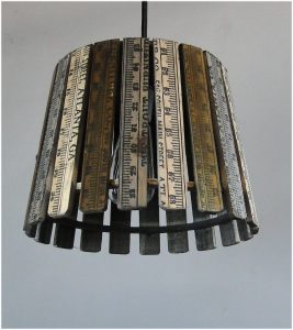 Vintage Wooden Ruler from Atlanta Ga Converted into Pendant Light Fixtures