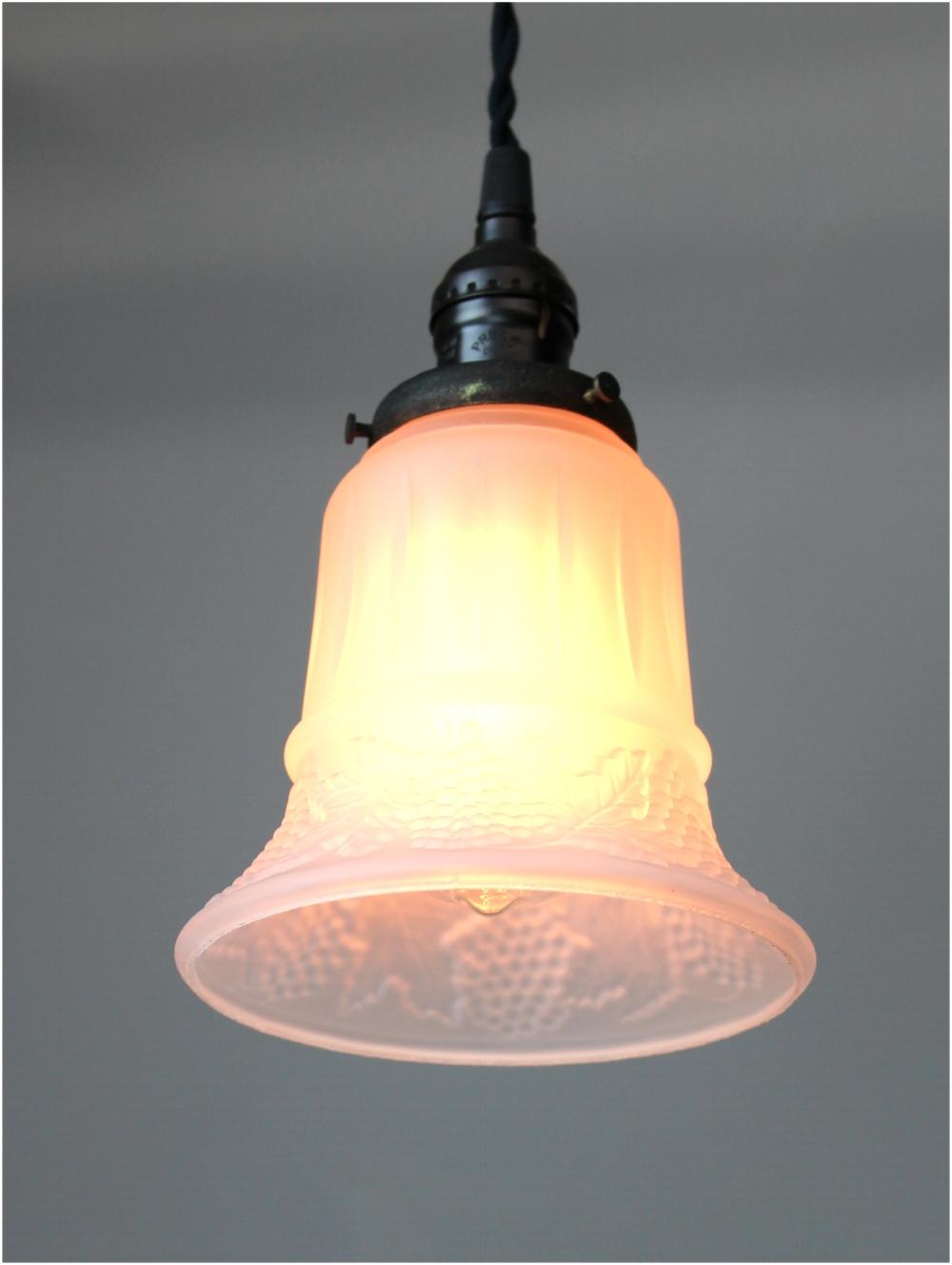 Satin Glass Shade 2 1 4 Fitter Size Pendant Light Fixture