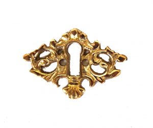 Beautiful Brass Key Hole Cabinet and Door Hardware
