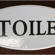 Porcelain or Metal TOILET Door Sign French Vintage Style for Bahtroom Home or Business