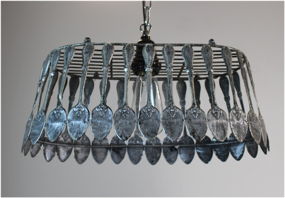 spoon chandelier pendant light fixture ceiling mounted