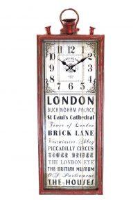 Old London England Tall Big Rectangular Clock Yellow Brick Piccadilly Circus More Writing