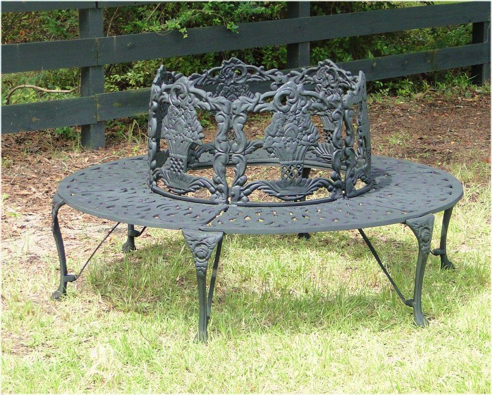 Victorian tree surround vintage replica garden furniture - Old fashioned patio furniture ...
