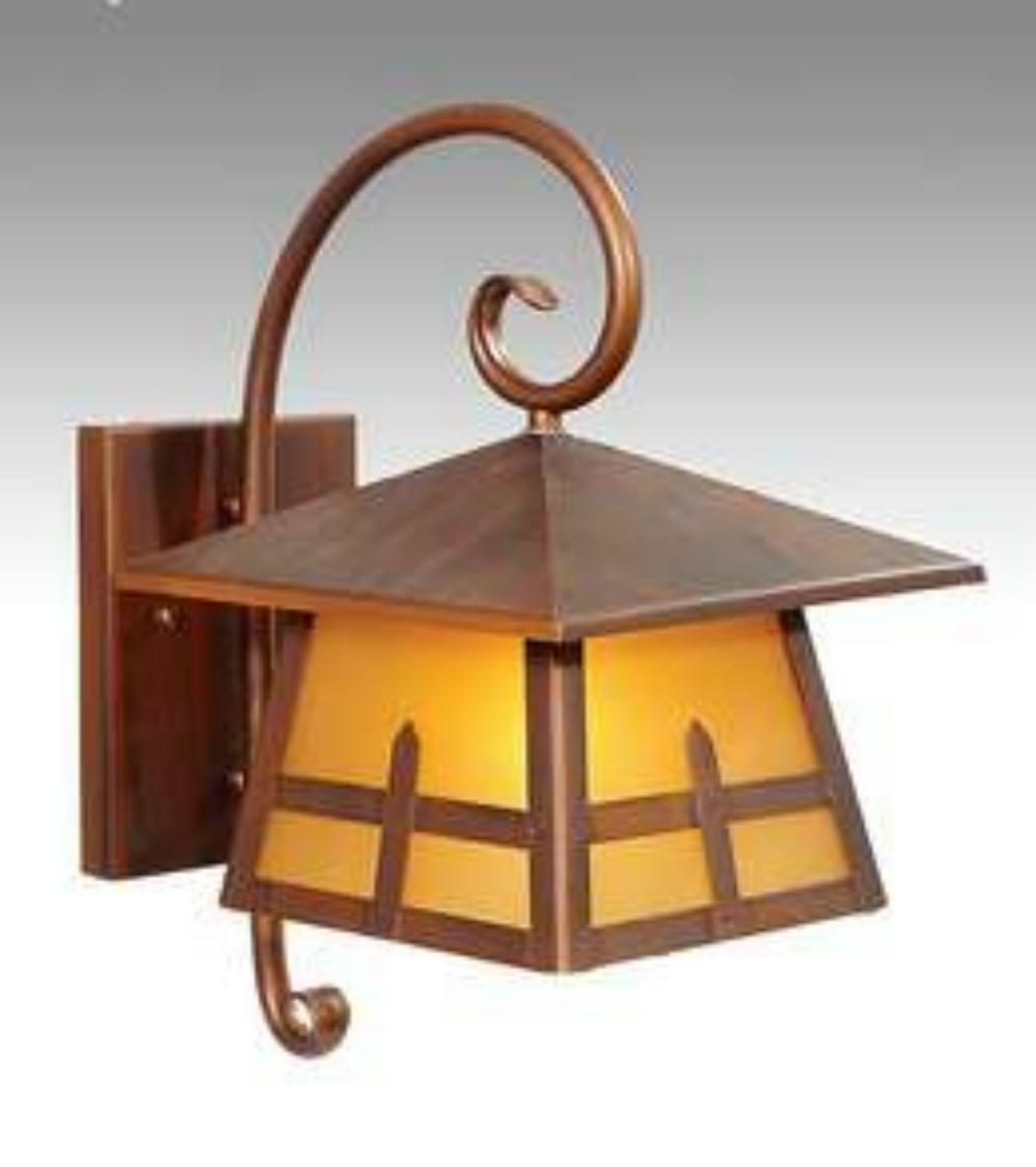 Arts and crafts faux copper wall light fixture sconce for for Arts and crafts light