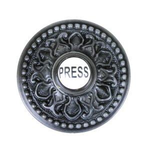 Round PRESS Porcelain Door Bell Button Electric Victorian Solid Brass Old Style Aged Dark Bronze