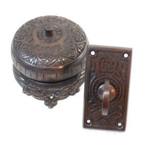 Dark Bronze Antique REPLICA non elecric Twist Door Bell, brass door Hardware, Hand Crank