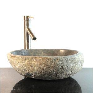 Riverstone Granite Boulder Vessel Sink Counter Top wbt6 Bathroom Bar