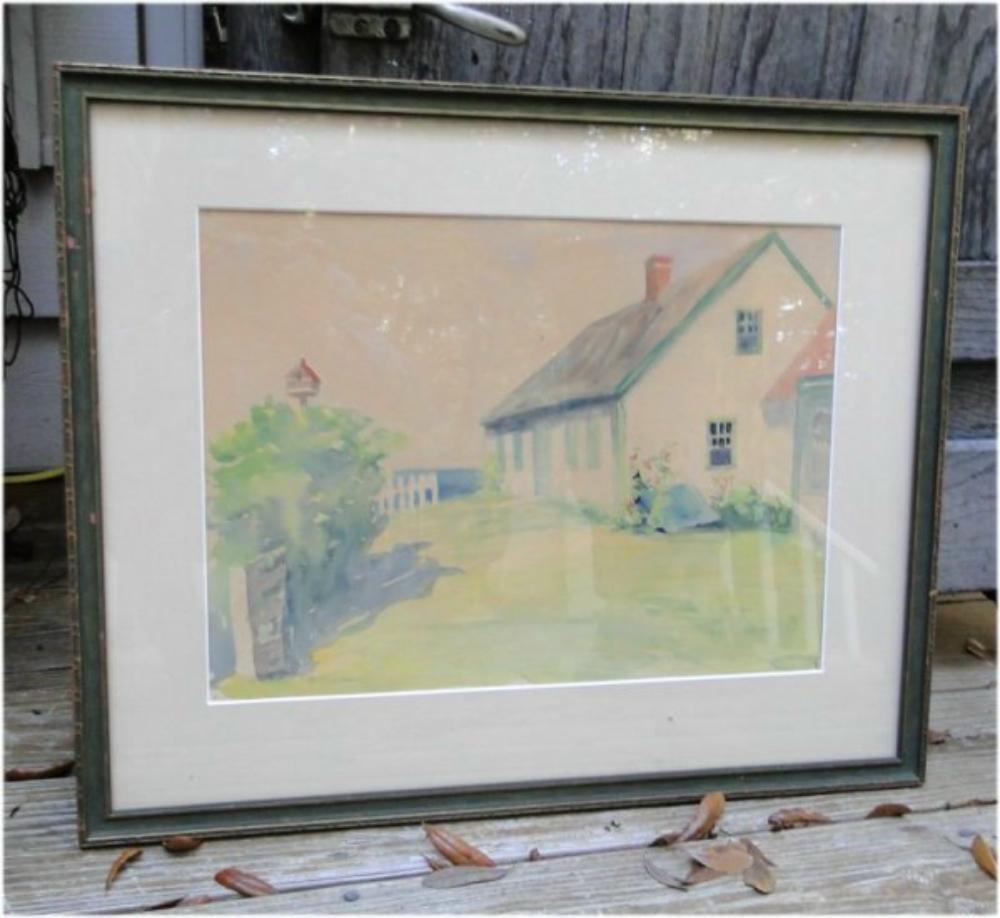 Antique Watercolor Painting by L K Holden Listed Artist, Original Artwork