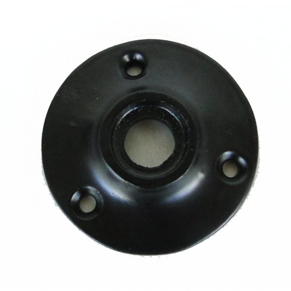 Small Door Rosette of Cast Iron w black base, great for porcelain hardware, renovators supplies