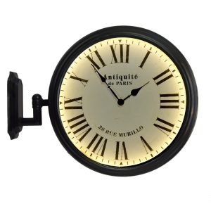 Paris France Train Station Wall Mount Lighted Clock Old Style