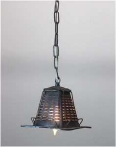Antique Tin Metal Four Slice Toaster Pendant Ceiling Light Fixture Real Vintage
