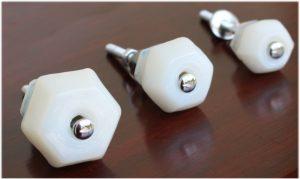 "1.25"" Milk Glass WHITE Glass Cabinet Knobs Pulls Vintage Dresser Drawer Hardware"