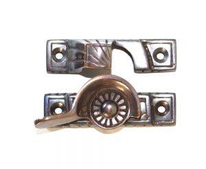 Victorian Window Sash Lock in AGED Heaviest Old Style Restoration Hardware Latch