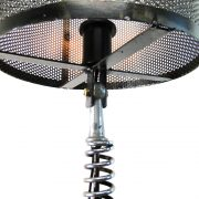 Hand Crafted Clutch and Spring Motorcycle End or Side Table Lamp
