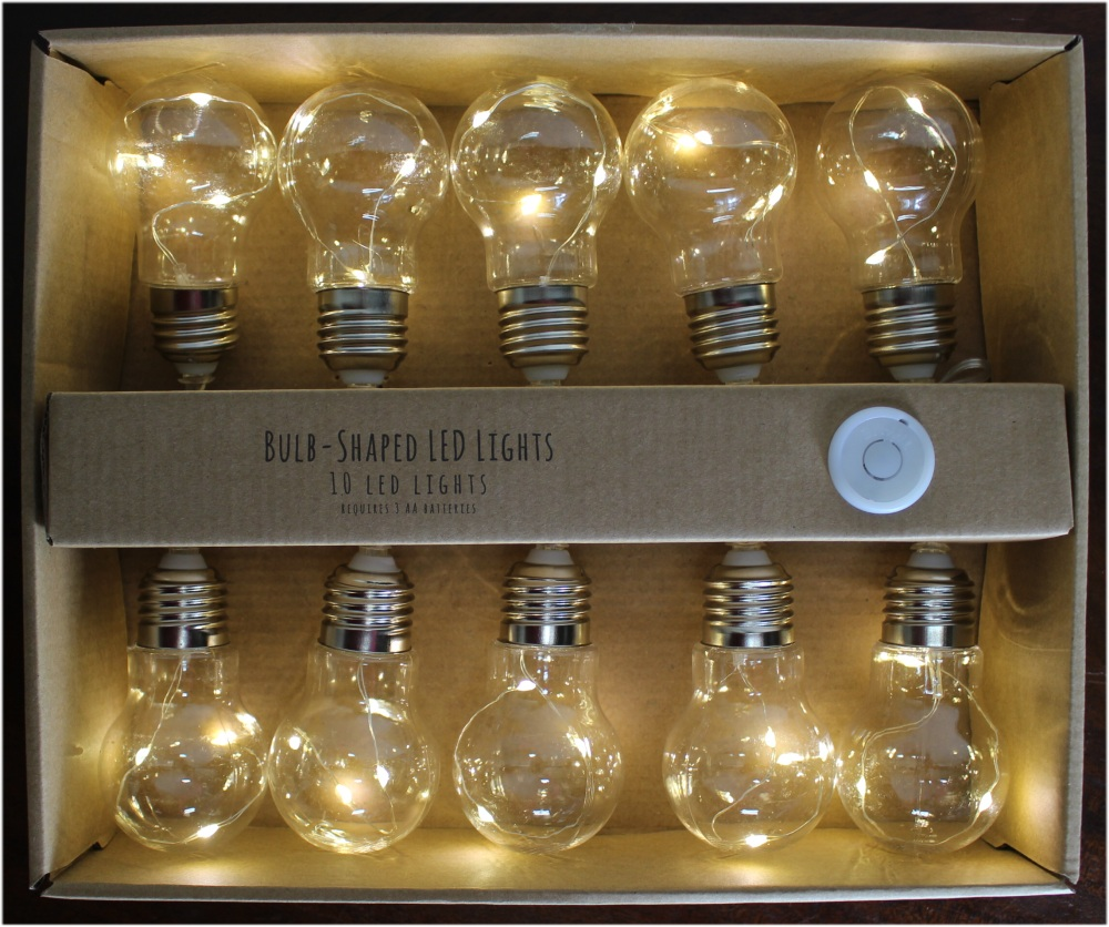 Led String Lights For Crafts : String of LED Light Bulbs (10 bulbs) Ready to Hang for custom craft Battery Operated - The Kings Bay