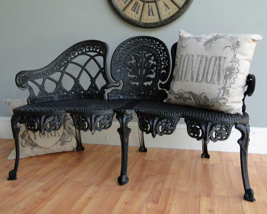 English Garden Bench Furniture Victorian Old Style Cane