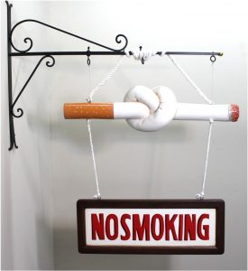 "Old Fashioned Vintage twisted ""NO SMOKING"" cigarette SIGN, Cigar Store FUN"