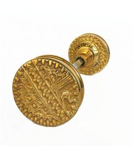 Vintage Brass Eastlake Victorian Arts and Crafts Style Door Knob Pair
