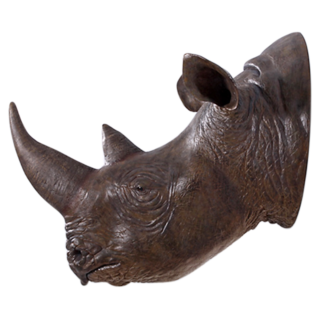 life size rhino rhinoceros wall head bust huge for hunting