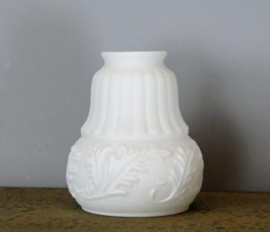"Victorian Satin Milk Glass replacement shade 2 1/4"" fitter lighting parts new"