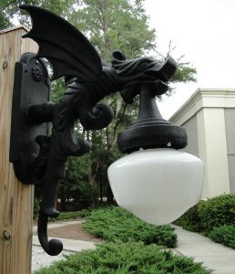 Outdoor Wall Light Sconce Fixture Antique Style GARGOYLE DRAGON Wings Vintage