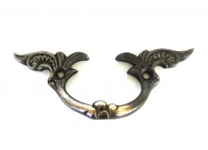 Brass Drawer and Dresser Cabinet Pull Antique Hardware Replica Dark Bronze Finish