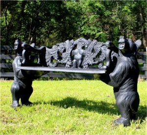 Black Bear or Brown Garden Bench Seat No Rust Aluminum
