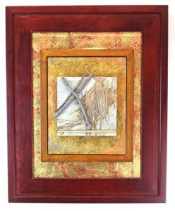 Denise Clayton Leonard Mixed Media Copper Gold Nature Resonance Artwork