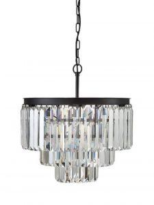 Round Three Tier Stunning Crystal Prism Ceiling Light Fixture Chandelier
