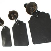 Old Fashioned Drawer Pulls Hanging Tags Chalkboard Metal Antique Replica