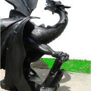 Huge Dragon Statue Sculpture on Faux Rock Big Giant Eragon 7ft