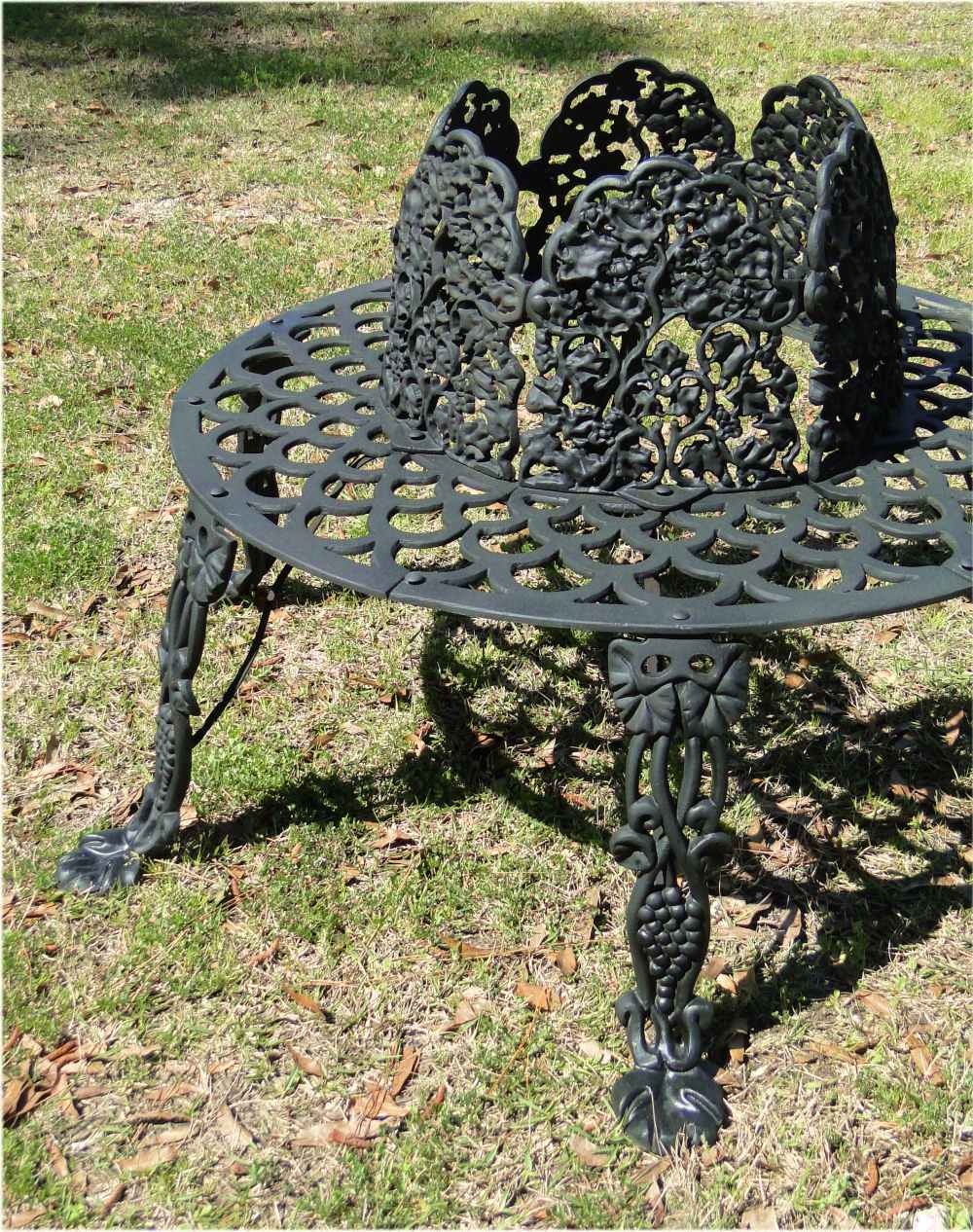 Victorian Tree Surround Vintage Replica Garden Furniture Old Fashioned Outdoor Bench 3 The