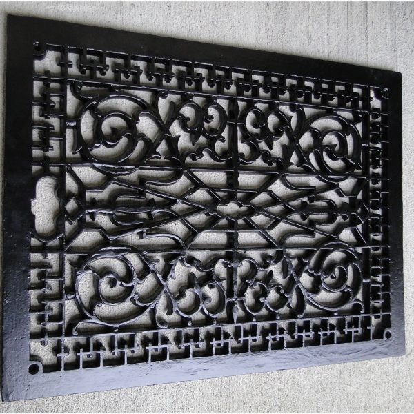 Vintage Old Style Rectangular Floor Grate Replica, BIG Huge Made of Solid Cast Iron