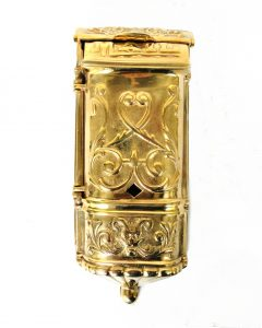 Victorian Motif MAIL BOX mailbox vintage style Solid Brass Heavy front door hardware