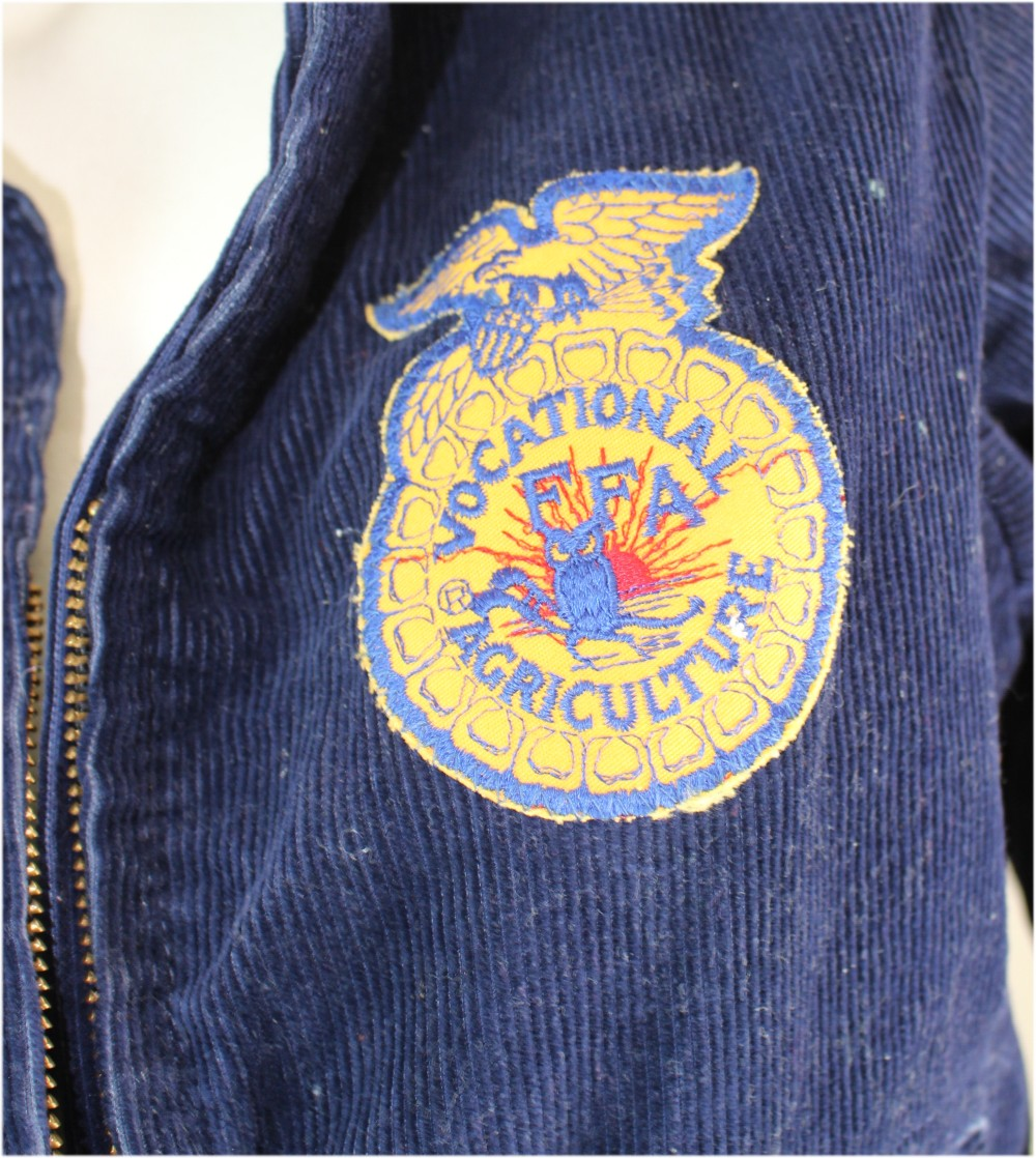 Vintage FFA Blue Corduroy Men's Jacket Lakeview Michigan Future Farmers of America