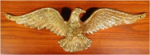 Solid Brass Eagle Sculpture Wall Art for Above Door Home American HEAVY