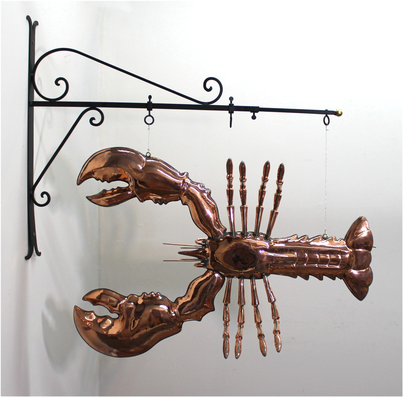 ... Giant Copper Lobster Like Old Trade Sign Seafood Decor Maine Kitchen  Claw Tail Fun