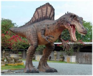 Spinosaurus Giant Dinosaur Sculpture Statue HUGE Fun highway display rock shop