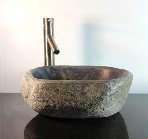 Riverstone Granite Boulder Vessel Sink Counter Top Bathroom Bar wbt4